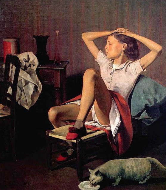 Balthus--Girl with Cat