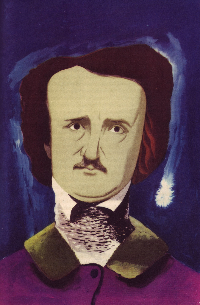 Image of Poe by Edward McKnight Kauffer, via A Journey Round My Skull