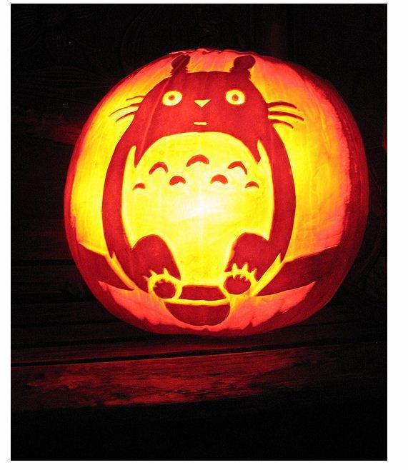 Totoro Jack O Lantern Stencil Biblioklept