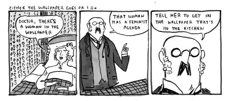 Kate Beaton Spoofs Charlotte Perkins Gilmans The Yellow Wallpaper