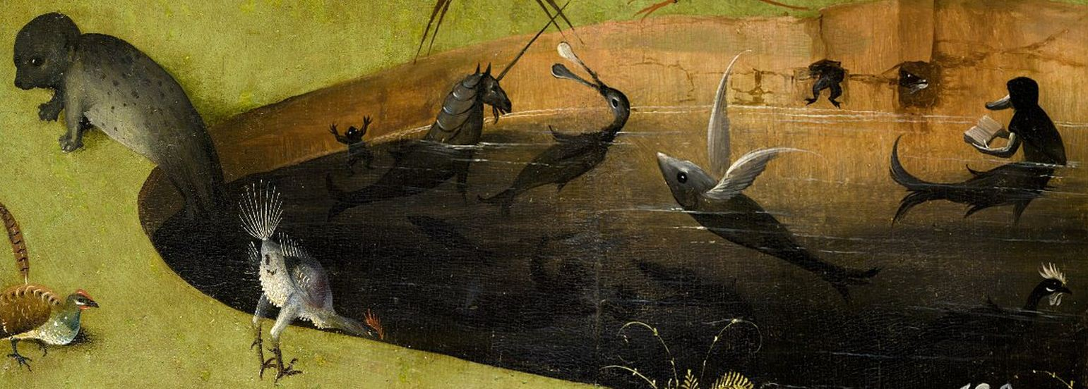Mermaid Reading Detail From Bosch S Garden Of Earthly Delights Biblioklept