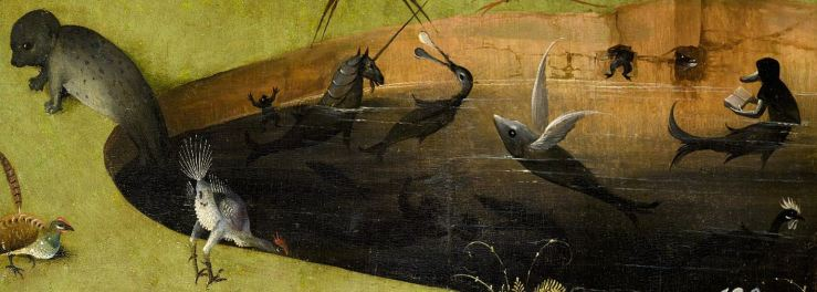Mermaid Reading Detail From Bosch S Garden Of Earthly