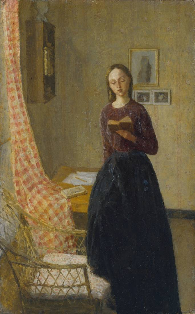 A Lady Reading 1909-11 by Gwen John 1876-1939