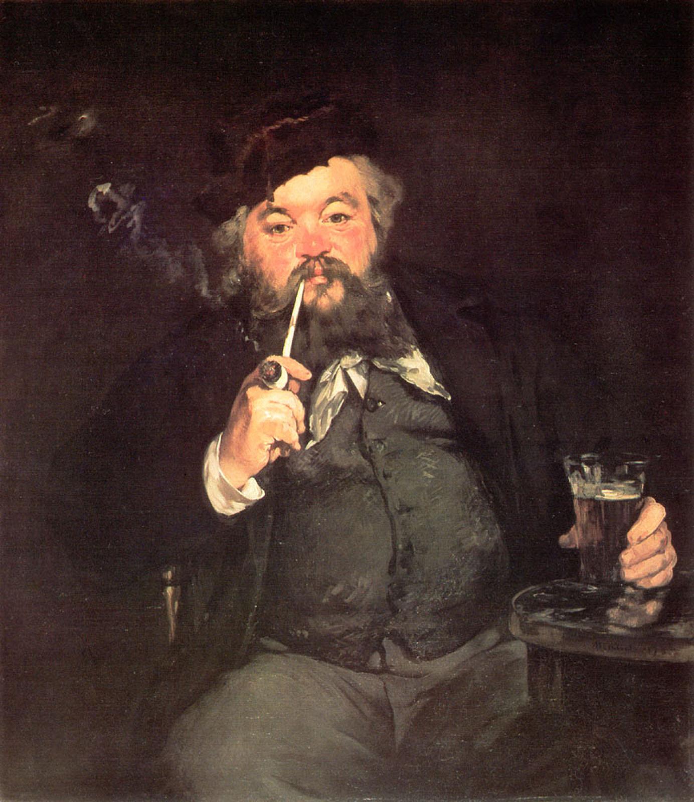 Oktoberfest Paintings: Edouard Manet, A Good Glass of Beer, 1873, Philadelphia Museum of Art, Philadelphia, PA, USA.
