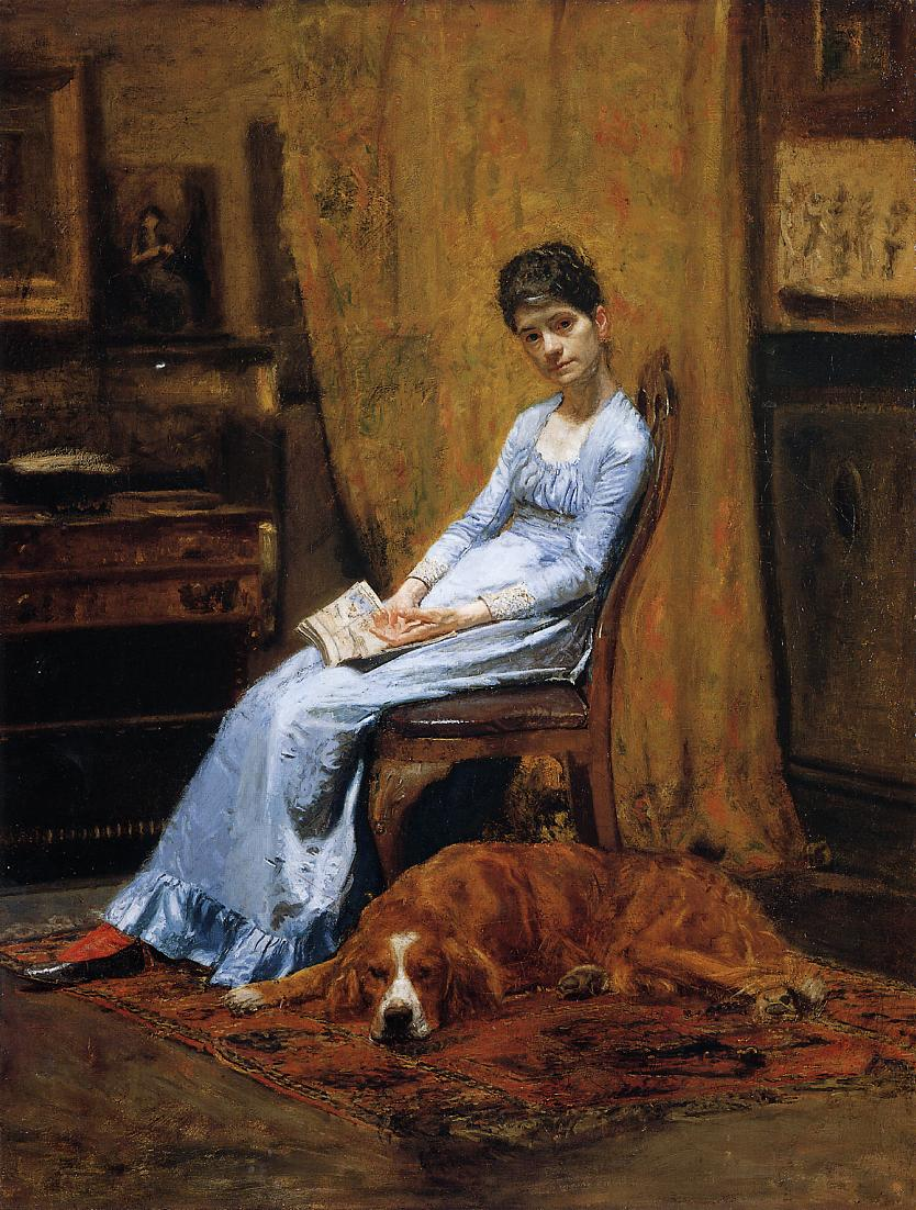 the-artist-s-wife-and-his-setter-dog-1889