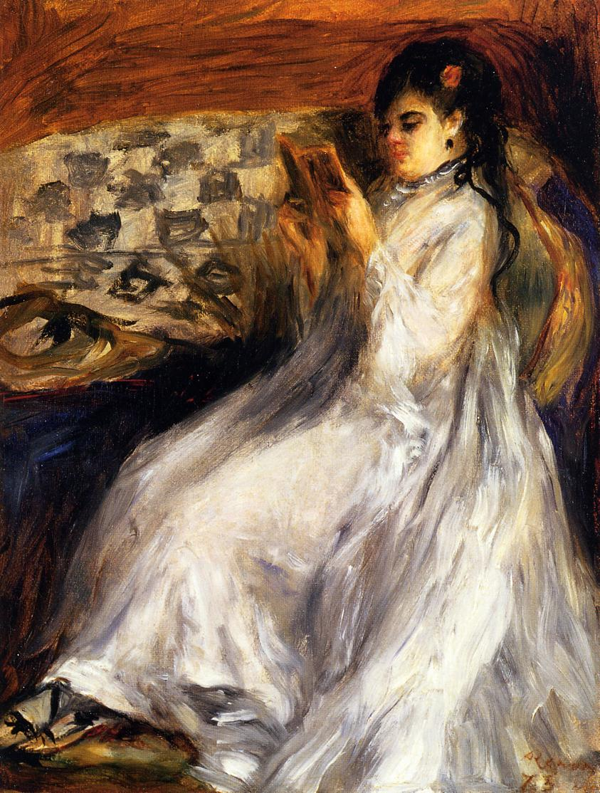 young-woman-in-white-reading
