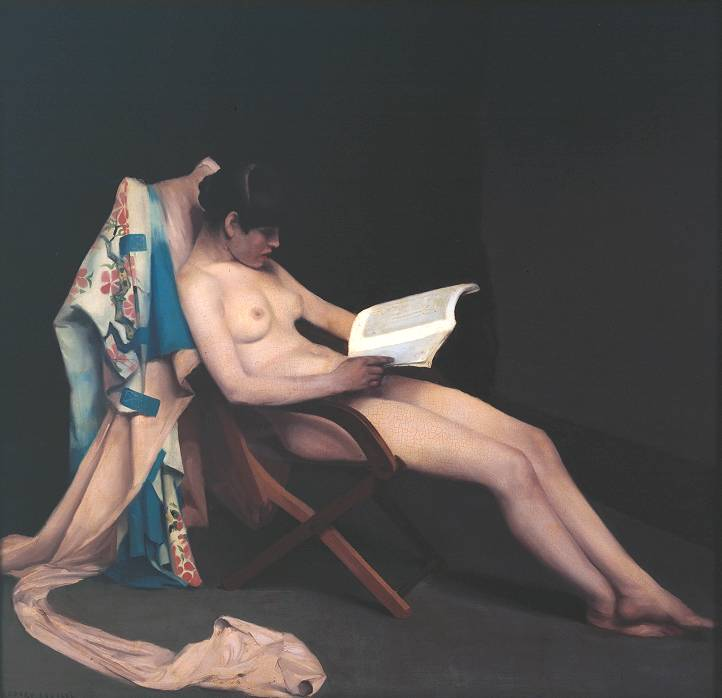 The Reading Girl 1886-7 by Théodore Roussel 1847-1926