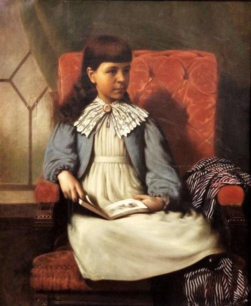 c Lewis Thomas Ives (American artist, 1833-1894) The Storybook