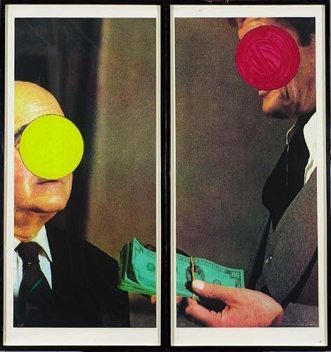 Money, With Space Between by John Baldessari