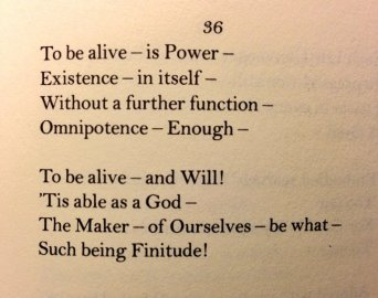 to be alive is power by emily dickinson