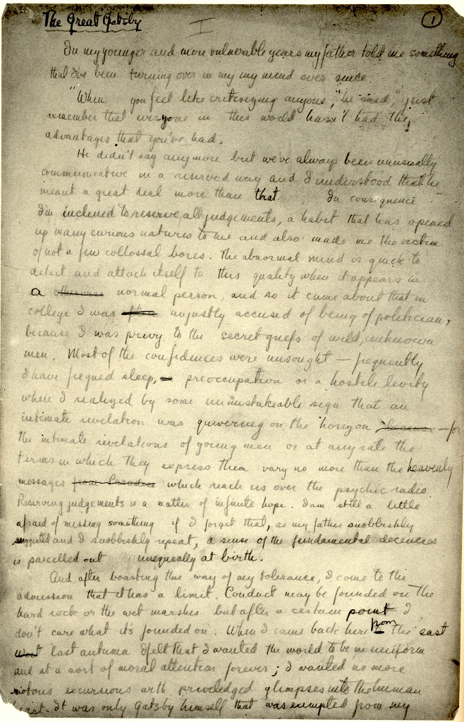 gatsby manuscript