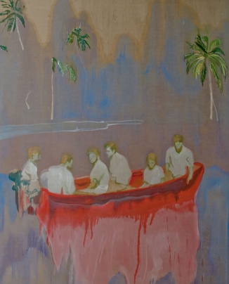 Doig-Figures-in-Red-Boat