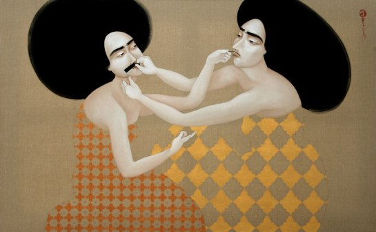 Hayv-Kahraman_Hold-Still_2010_Oil-on-linen_106.6x172cm