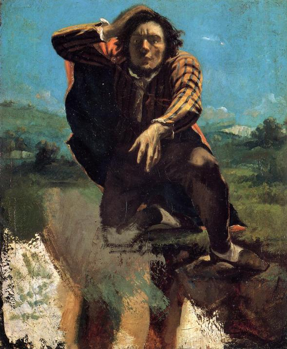 The Man Made Mad by Fear, Gustave Courbet