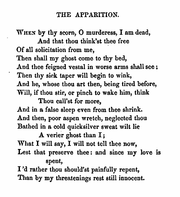"The Apparition"" — John Donne – Biblioklept"