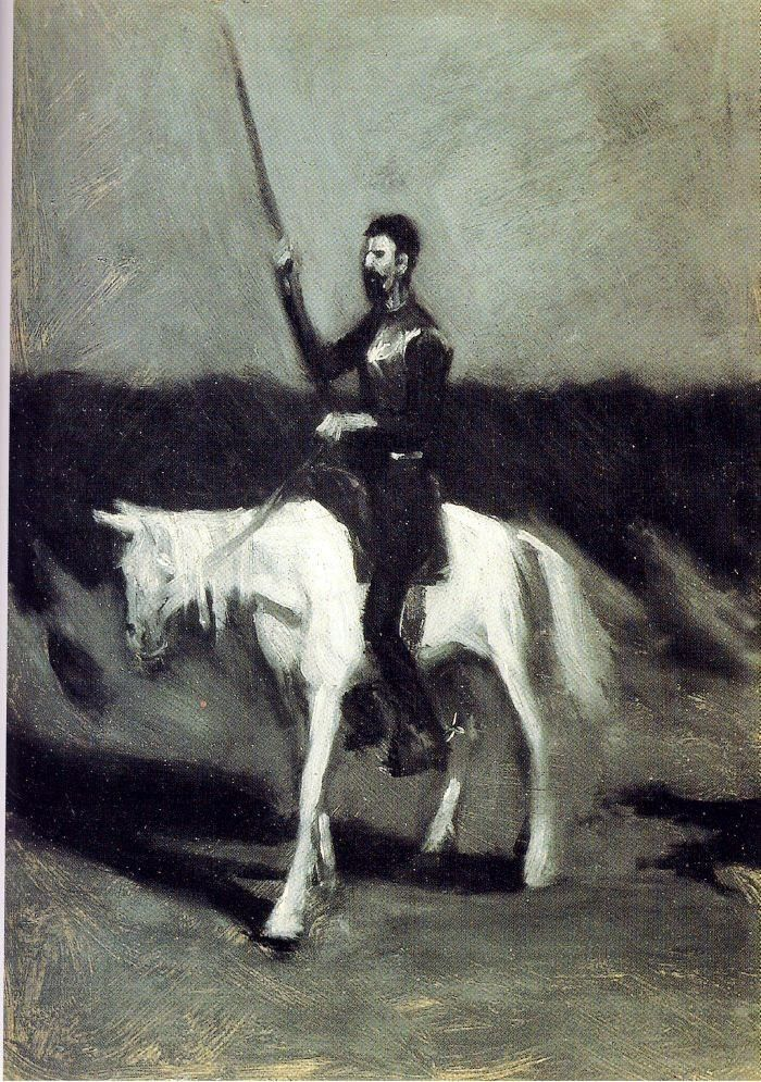 Don Quixote on Horseback