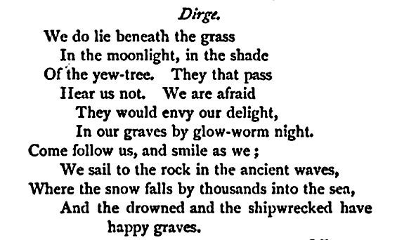 Thomas Lovell Beddoes poems