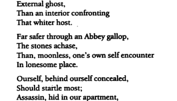 one need not be a chamber to be haunted analysis