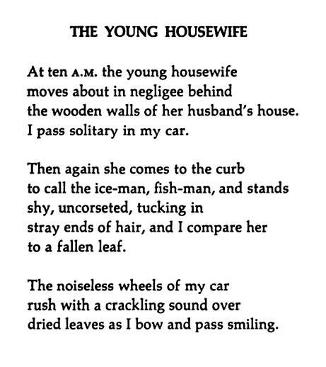 the young housewife williams