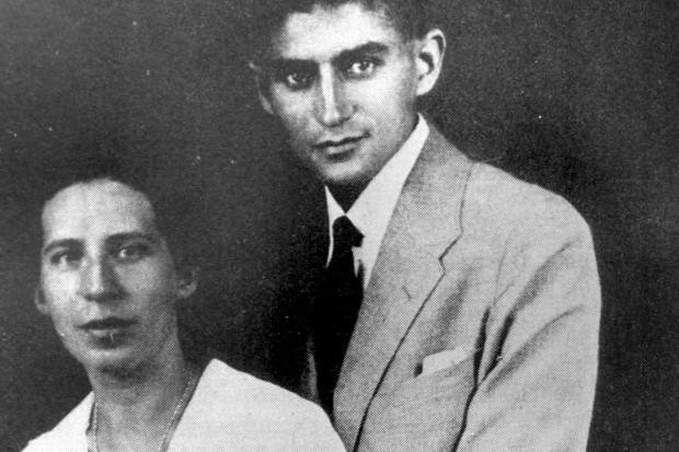 Franz-Kafka-with-his-first-fiancee-Felice-Bauer-in-1917-Mono-Print