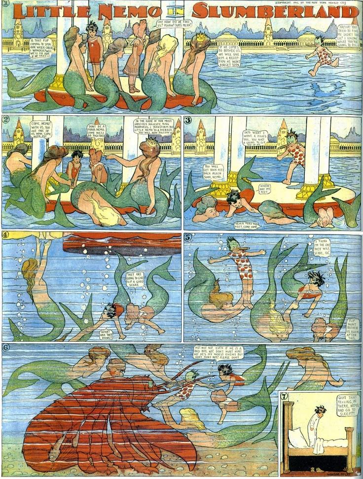 Little Nemo Meets Some Mermaids (Winsor McCay) Biblioklept