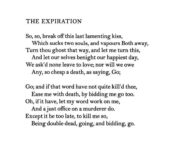 "The Expiration"" — John Donne – Biblioklept"