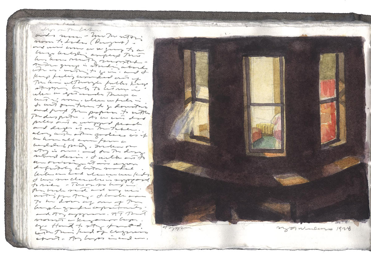 Edward Hopper.Postkarte.Night Windows.1928