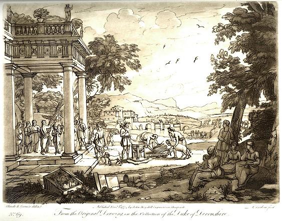 "Claude Lorrain's ""Landscape with Samuel Anointing David."""
