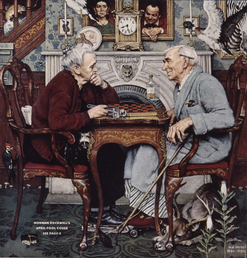 """Norman Rockwell (1894-1978), """"April Fool: Checkers"""""""