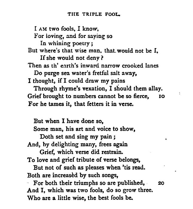 """The Triple Fool"""" — John Donne – Biblioklept"""