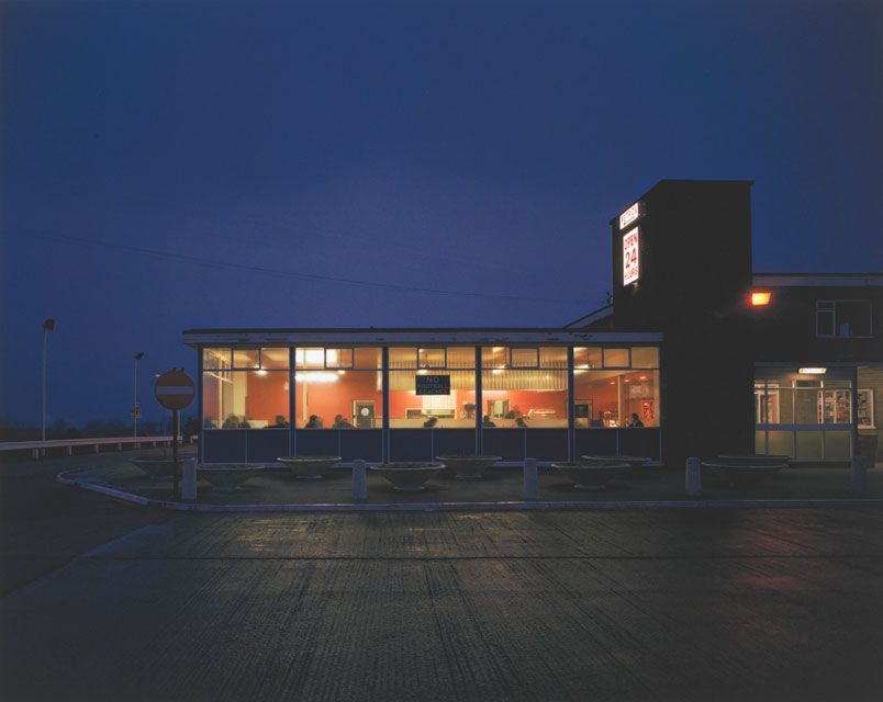 Paul Graham. Blyth Services at Night, Blyth, Nottinghamshire