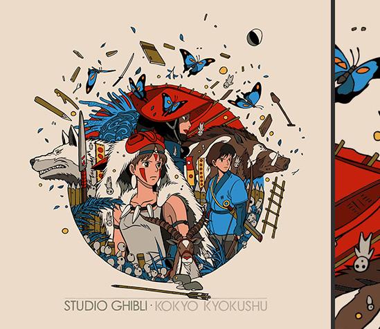 Tyler Stout s Studio Ghibli Posters. 1734-ghibli howls  1735-ghibli catreturns 1733-ghibli spirited 1732-ghibli princess 84cca20bb4
