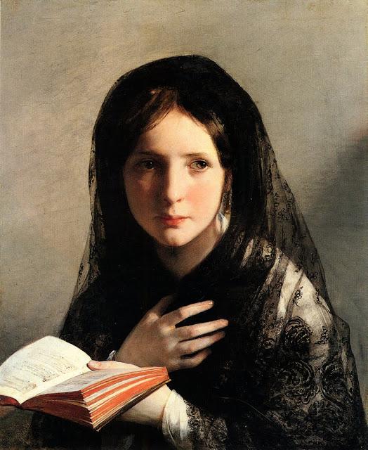 2aFriedrich von Amerling (Austrian-born artist, 1803-1887) In Traumen Versunken, 1835.