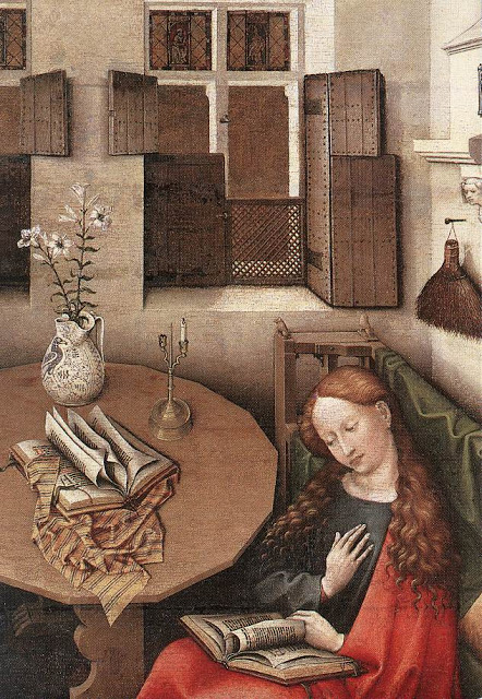 1a Master Of Flemalle (Robert Campin) Annunciation Detail 1425