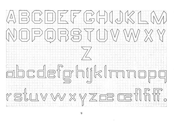 Some Lettering Fonts By J Howard Cromwell 1887 Biblioklept