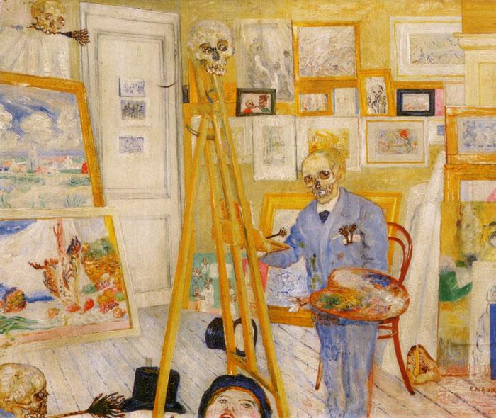 james-ensor-skeleton-painting