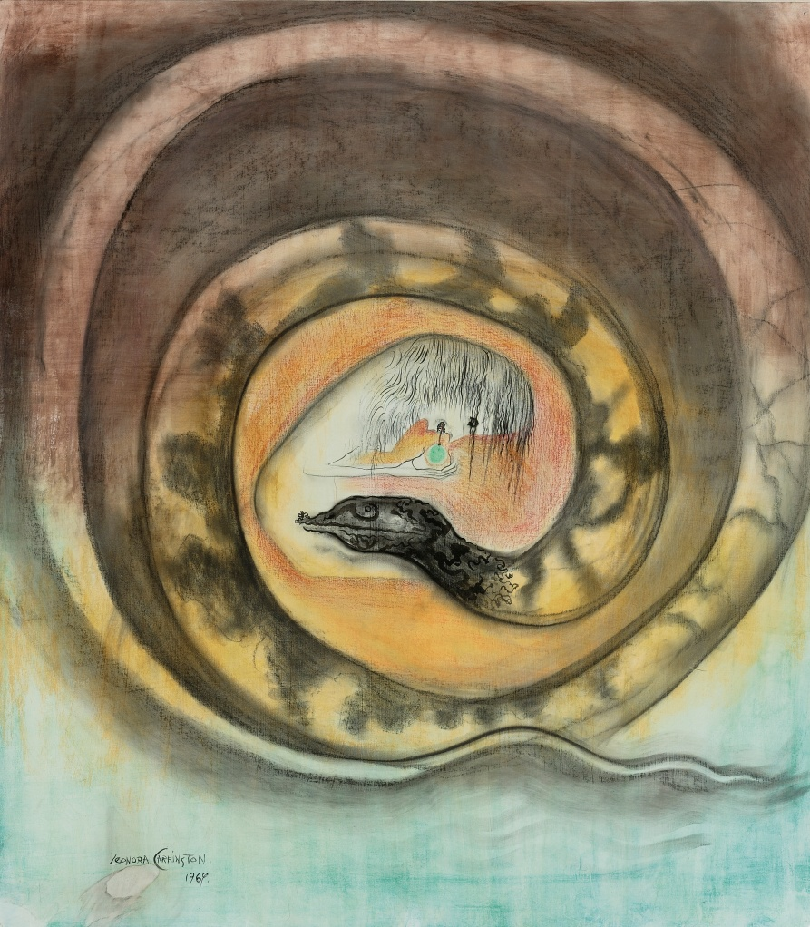 Snake 1969 gouache, ink, pastel and wax crayon on board 29.875 x 26.5 in