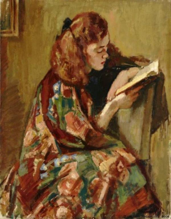 Enckell, Magnus - Jeune fille lisant, 1921-22