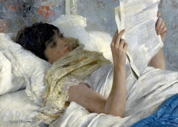 gabriel-ferrier-1847-1914-moc3a7a-lendo-na-cama-ost