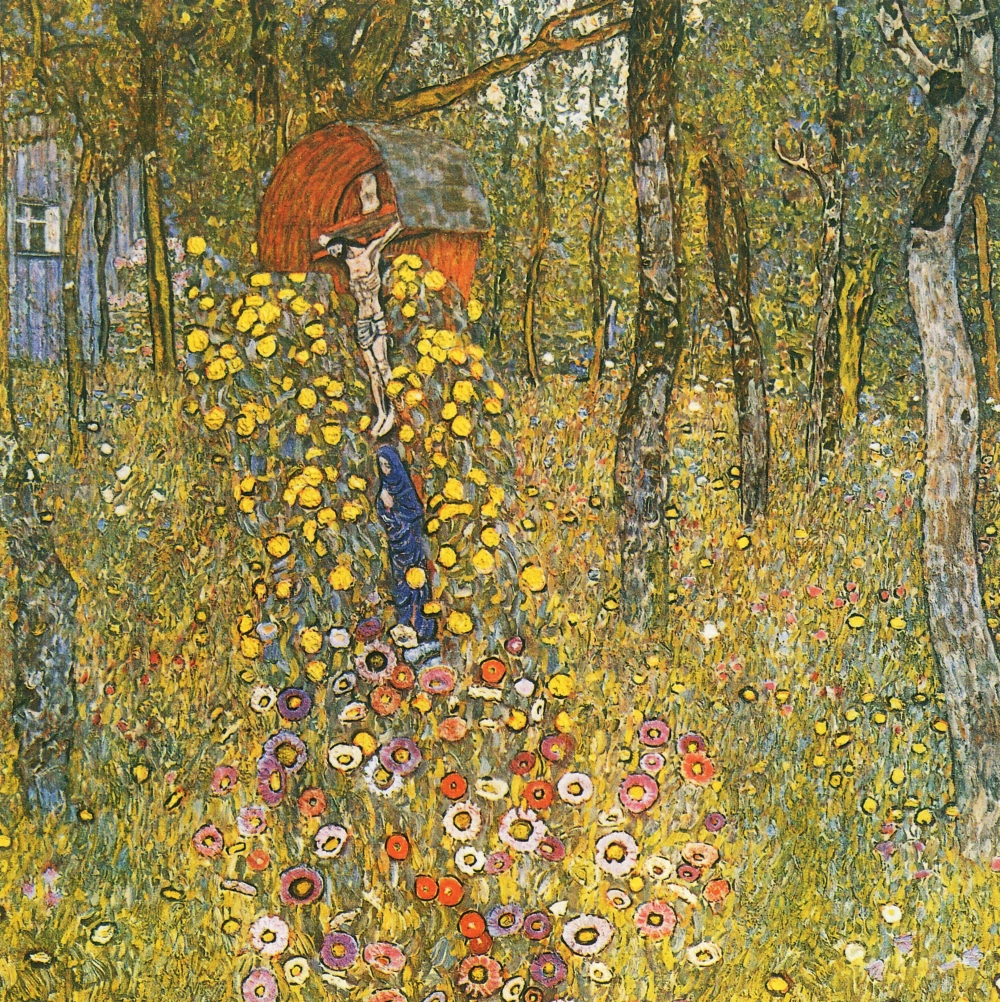 klimt-farm-garden-with-crucifix