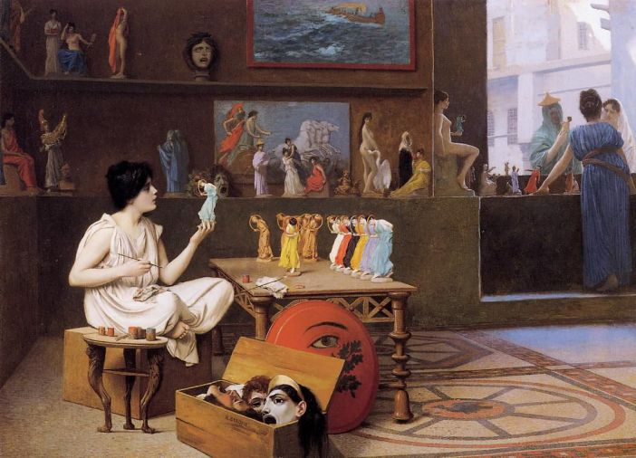 Painting-Breathes-Life-into-Sculpture_Jean-Leon-Gerome_Academicism_allegorical-painting
