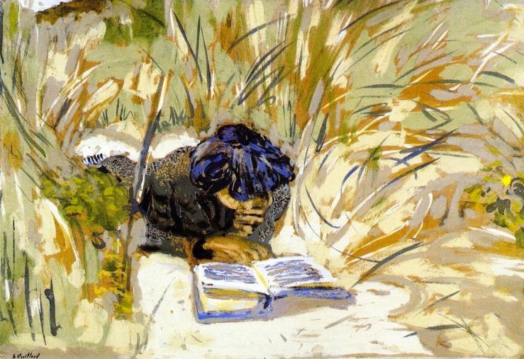 Édouard Vuillard - Woman Reading in the Reads, Saint-Jacut