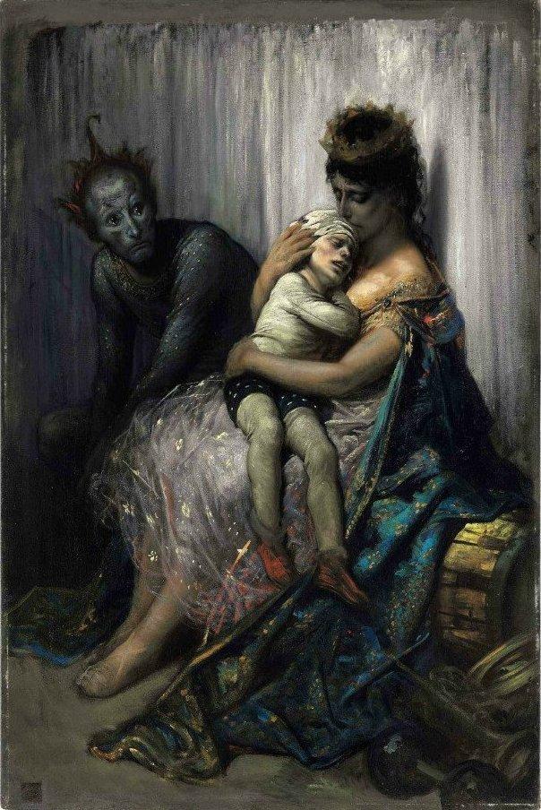 Gustave_Dore_-_'La_famille_du_saltimbanque,_l'enfant_blessé