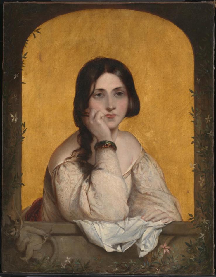 The Bride 1842 by Theodor von Holst 1810-1844