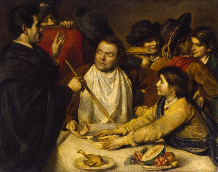 Sancho Panza Attended by his State Physician exhibited 1868 by Frederick Yeates Hurlstone 1800-1869
