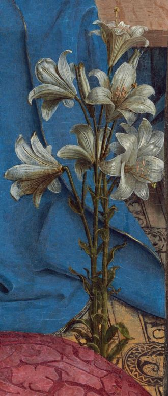 the annunciation detail � jan van eyck � biblioklept