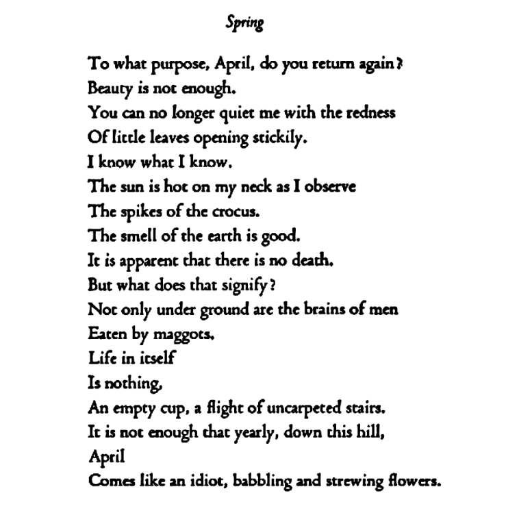April comes like an idiot babbling and strewing flowers edna st april comes like an idiot babbling and strewing flowers edna st vincent millay mightylinksfo