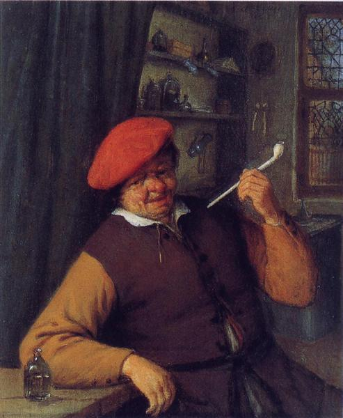 a-peasant-in-a-red-beret-smoking-a-pipe.jpg!Large