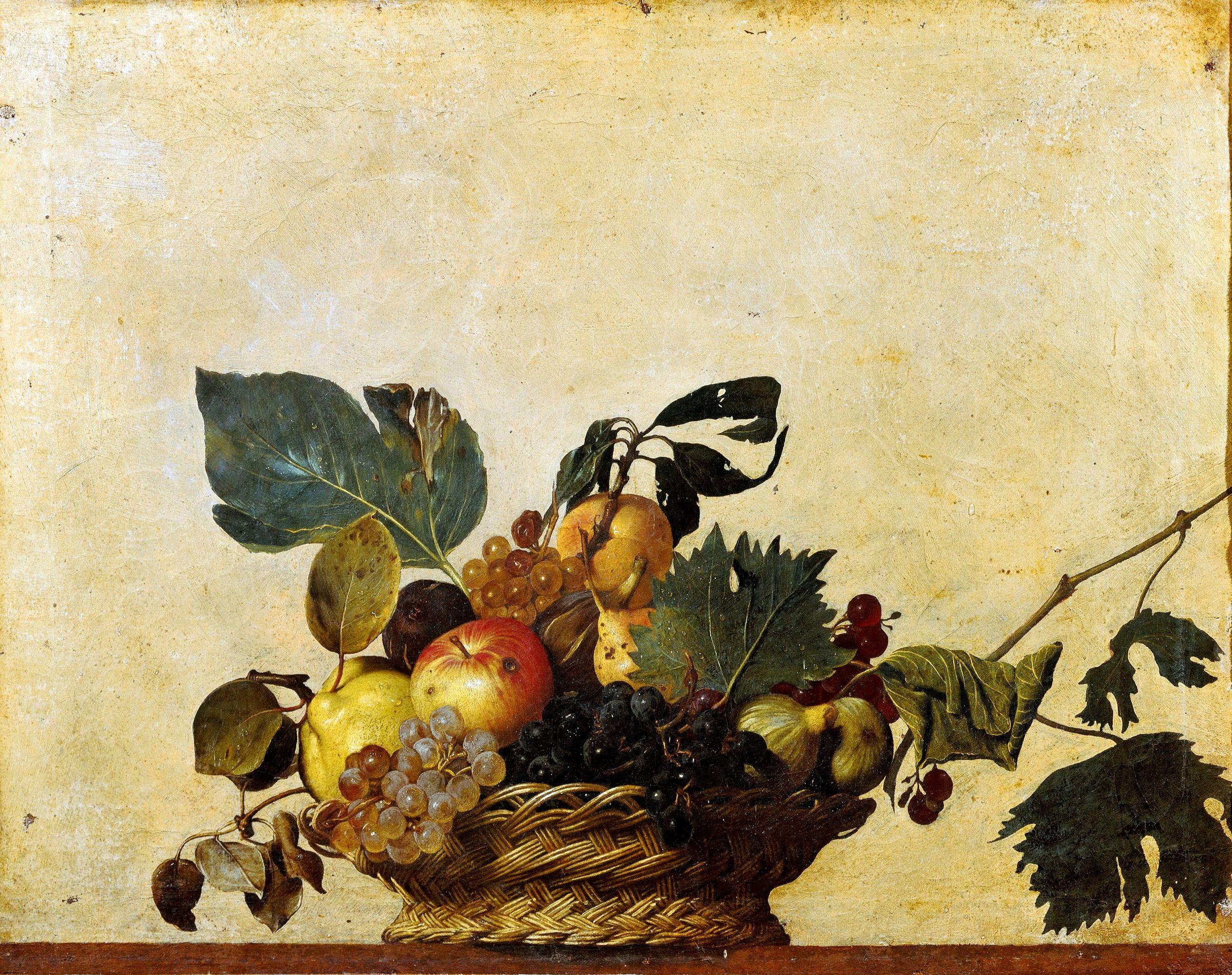Basket of Fruit — Caravaggio – Biblioklept