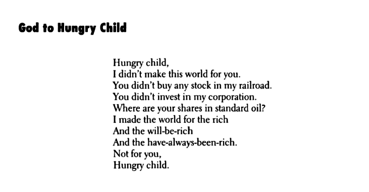 god to hungry child